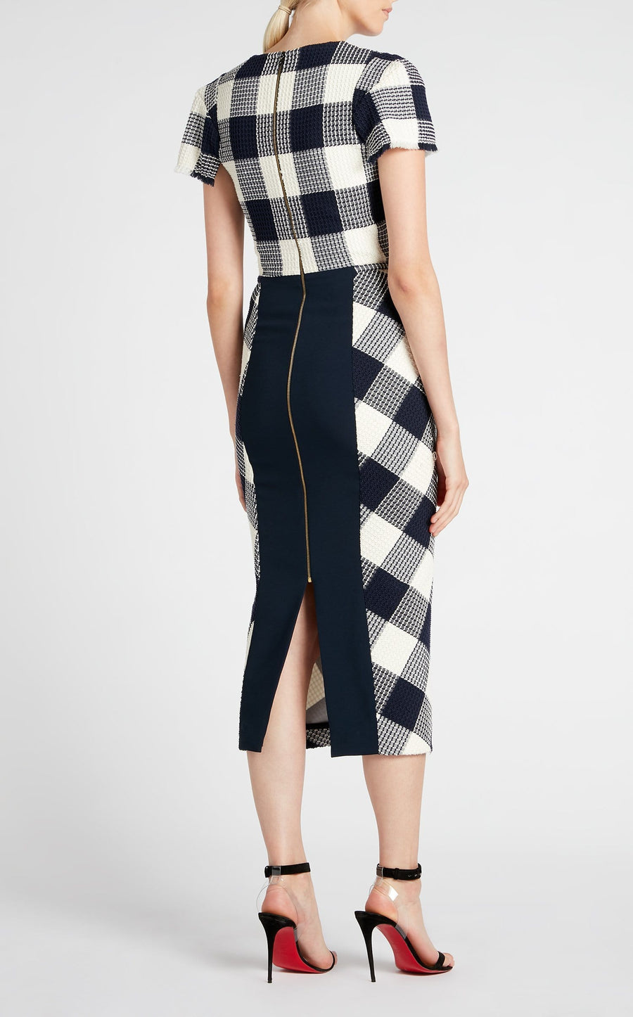 Chaney Dress In Navy/White from Roland Mouret