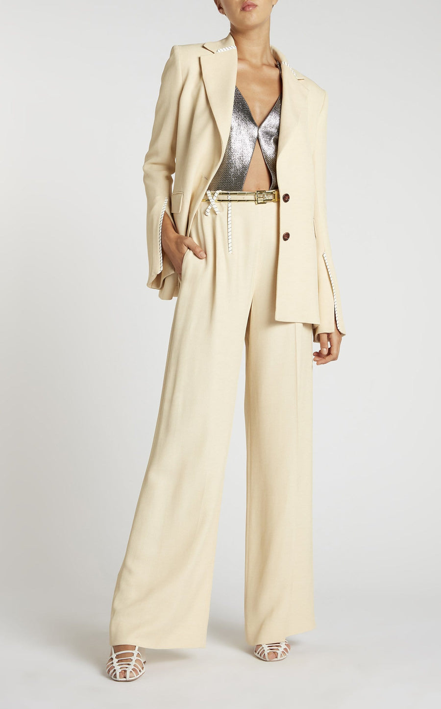 Chapelle Trouser In Oatmeal from Roland Mouret