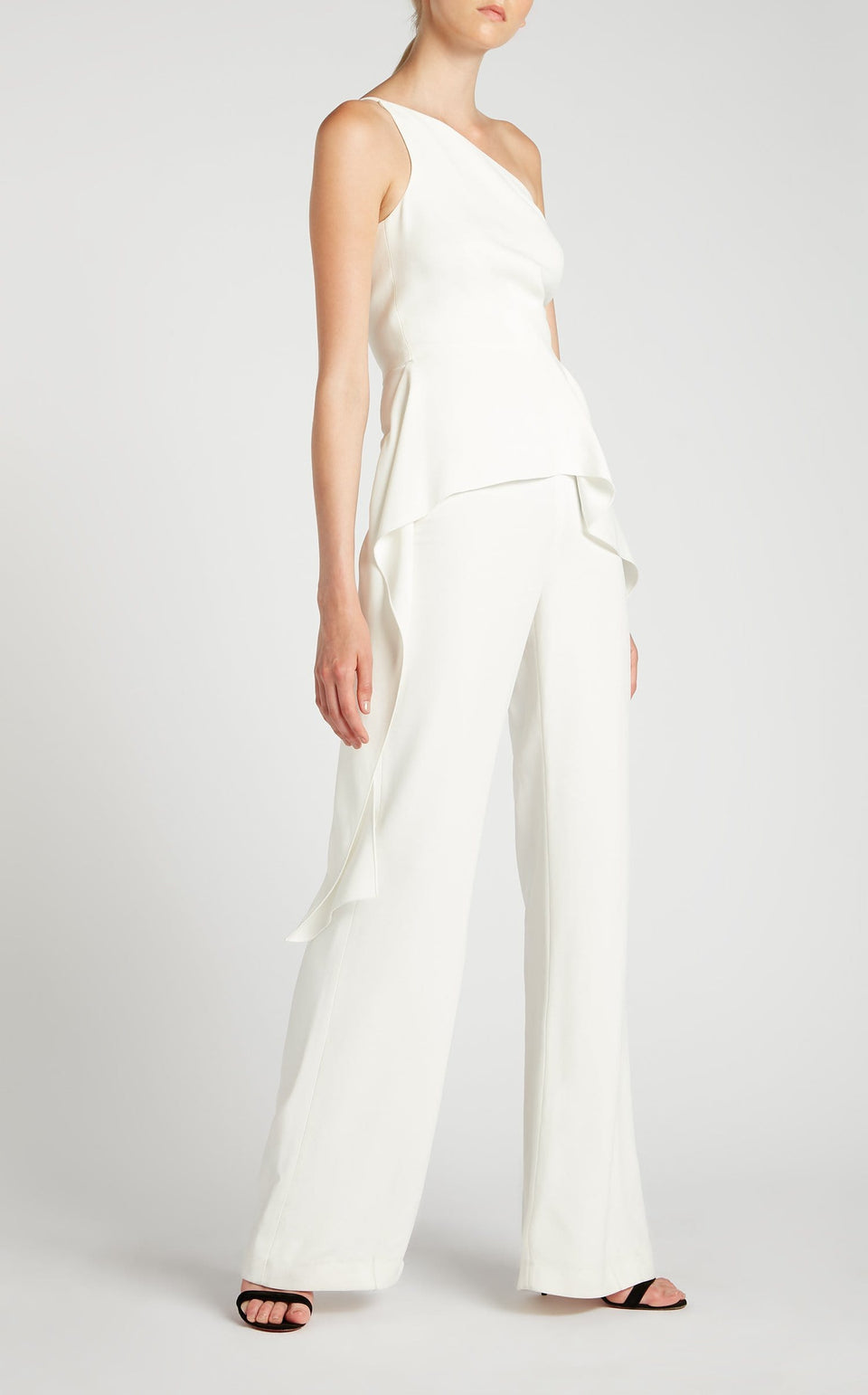 Charlesworth Jumpsuit In White from Roland Mouret