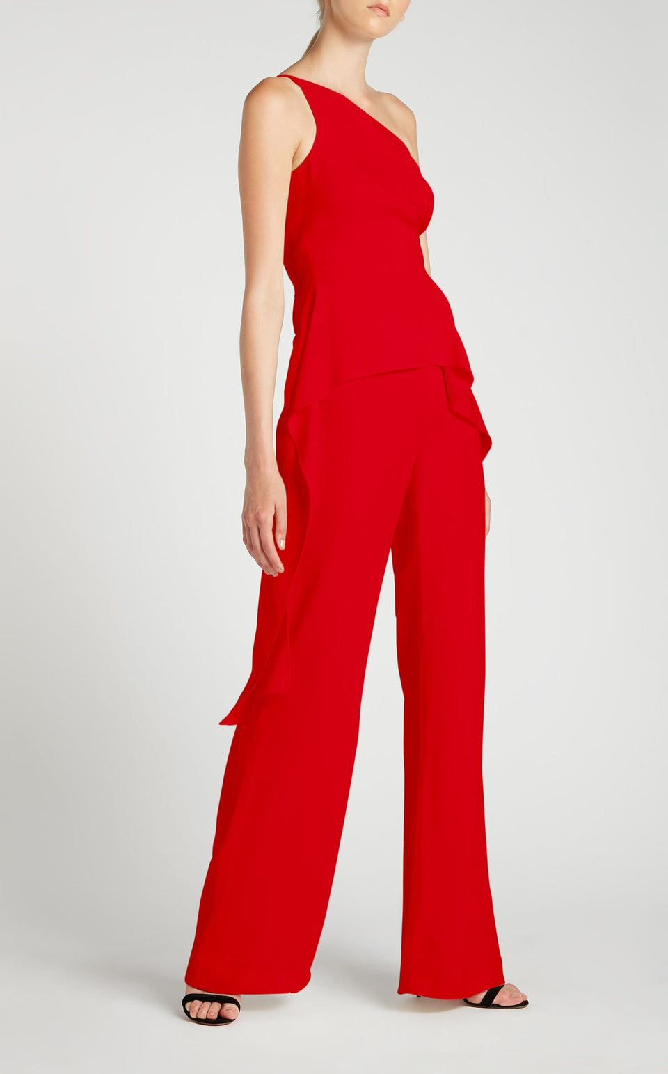 Charlesworth Jumpsuit In Poppy Red from Roland Mouret