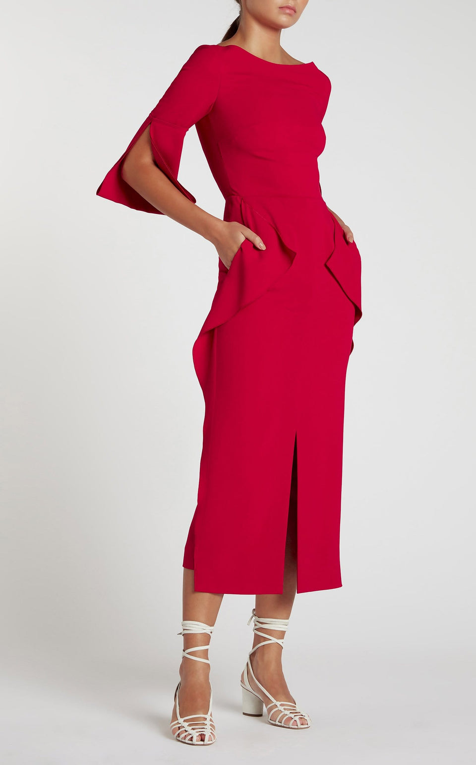 Crane Dress In Ruby from Roland Mouret