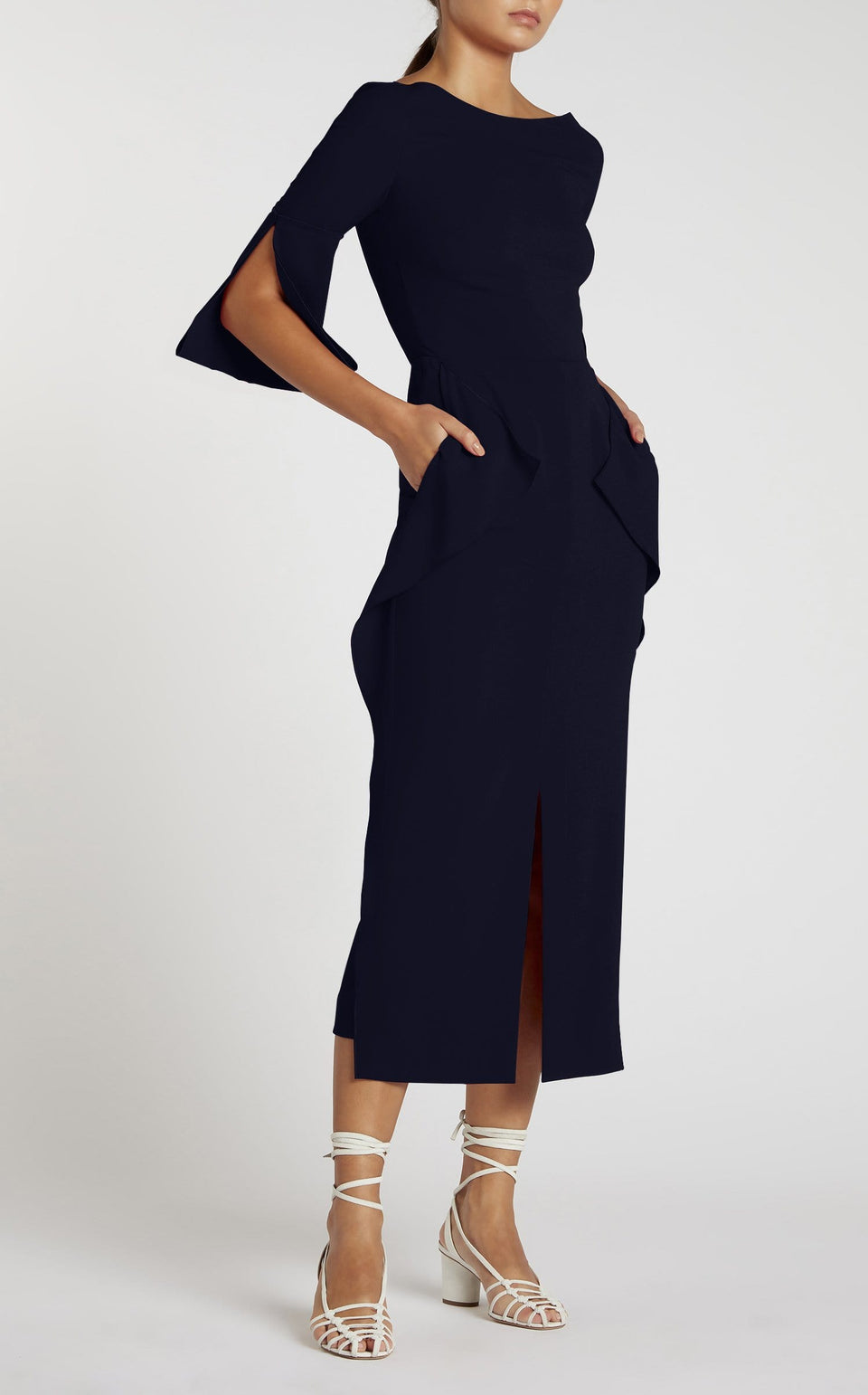 Crane Dress In Navy from Roland Mouret
