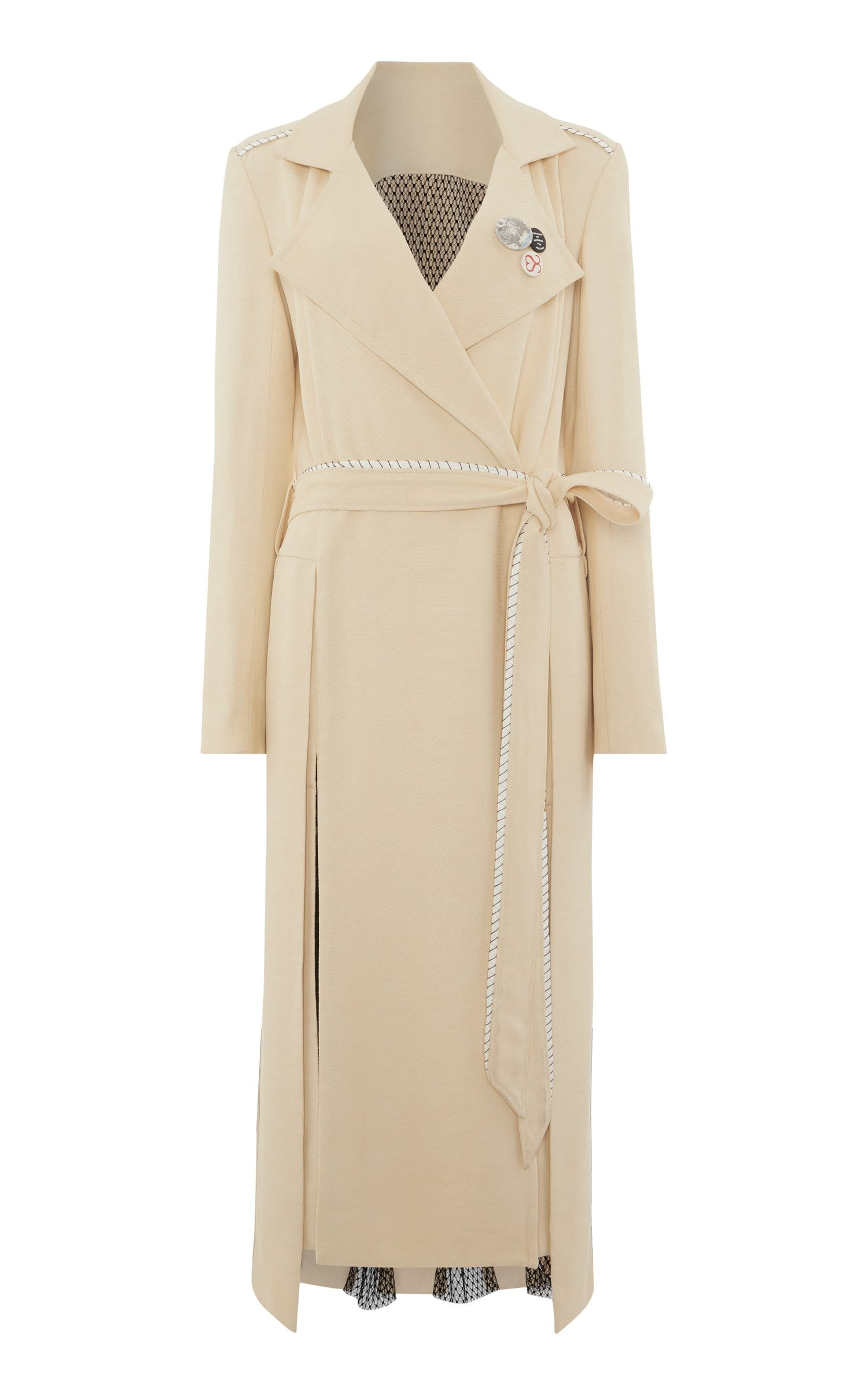 Drummond Coat In Oatmeal/Black from Roland Mouret