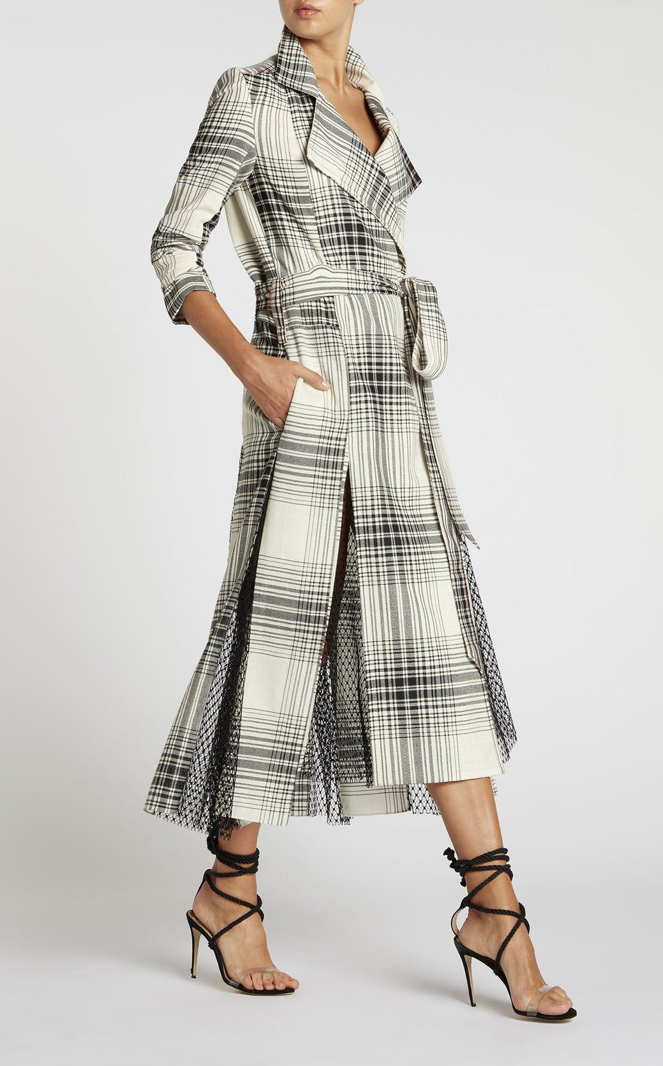 Drummond Coat In Monochrome from Roland Mouret