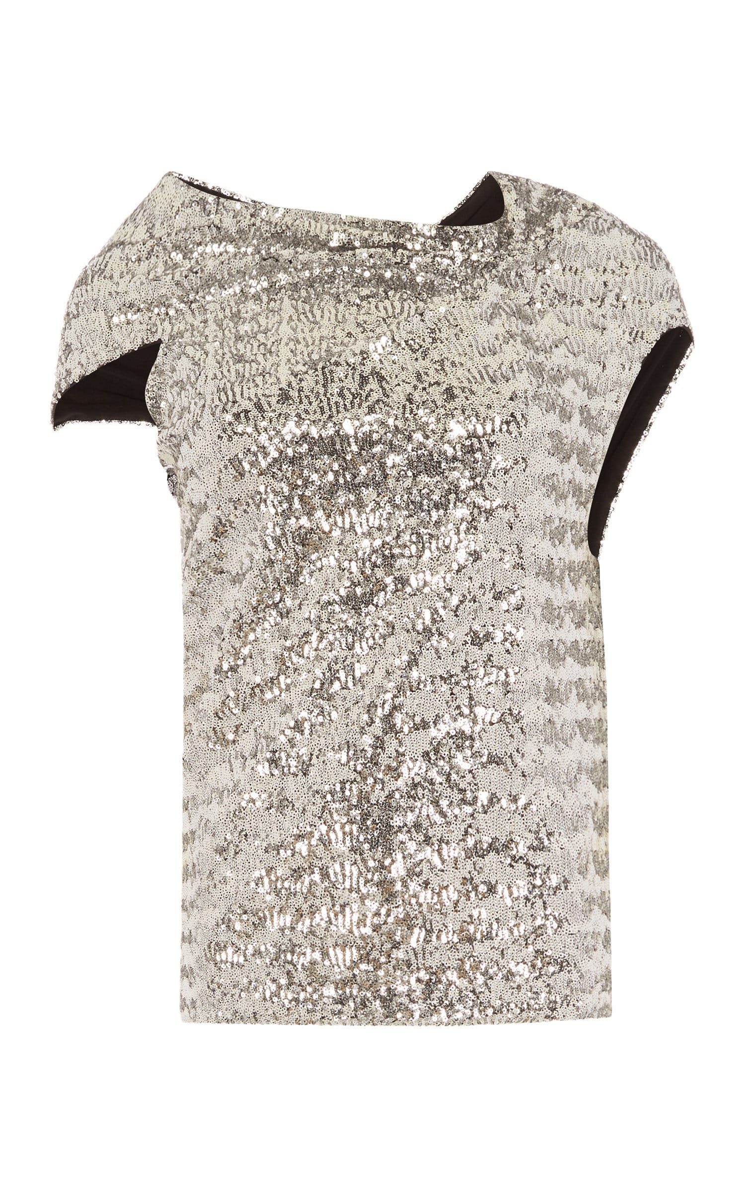 Eugene Top In Silver from Roland Mouret