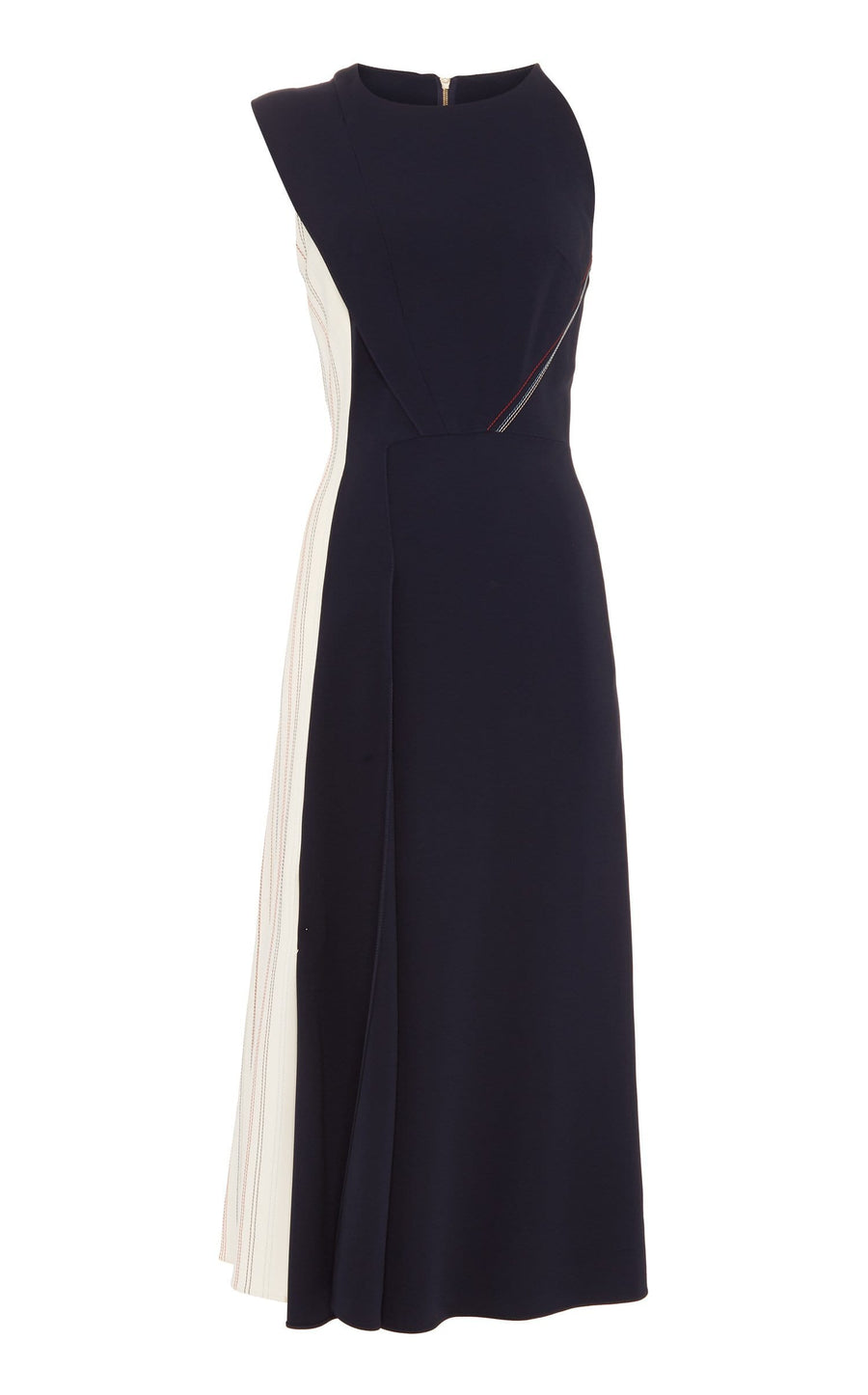 Felton Dress In Navy/White Multi from Roland Mouret