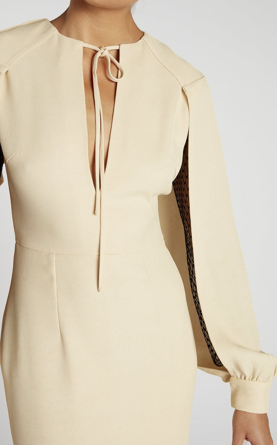 Fort Dress In Oatmeal/Black from Roland Mouret