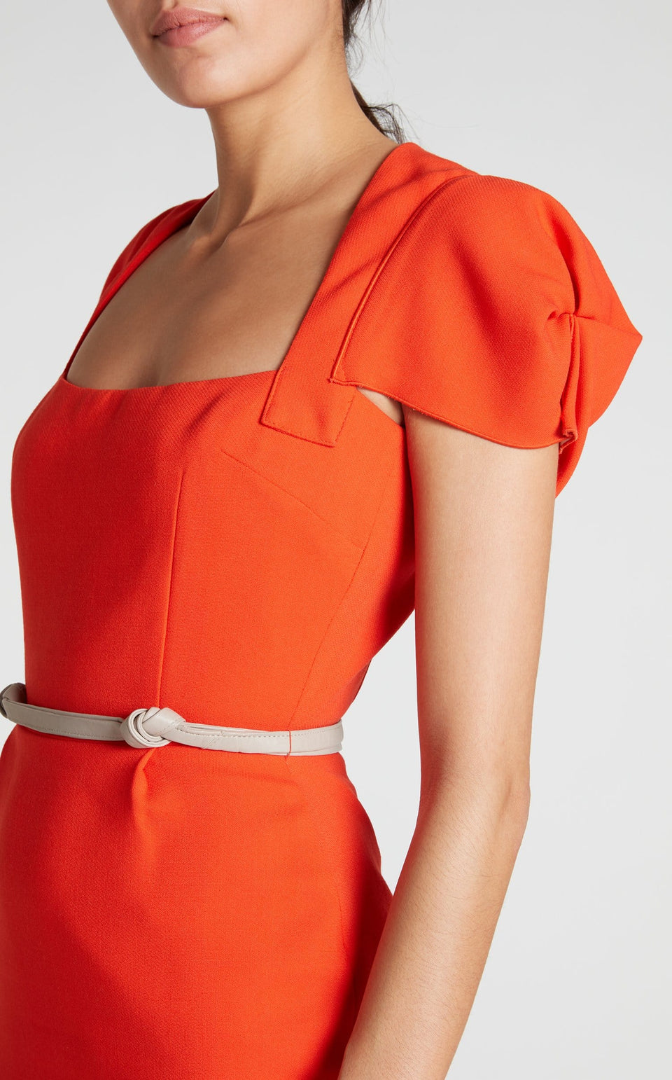 Galaxy Dress In Bright Orange from Roland Mouret