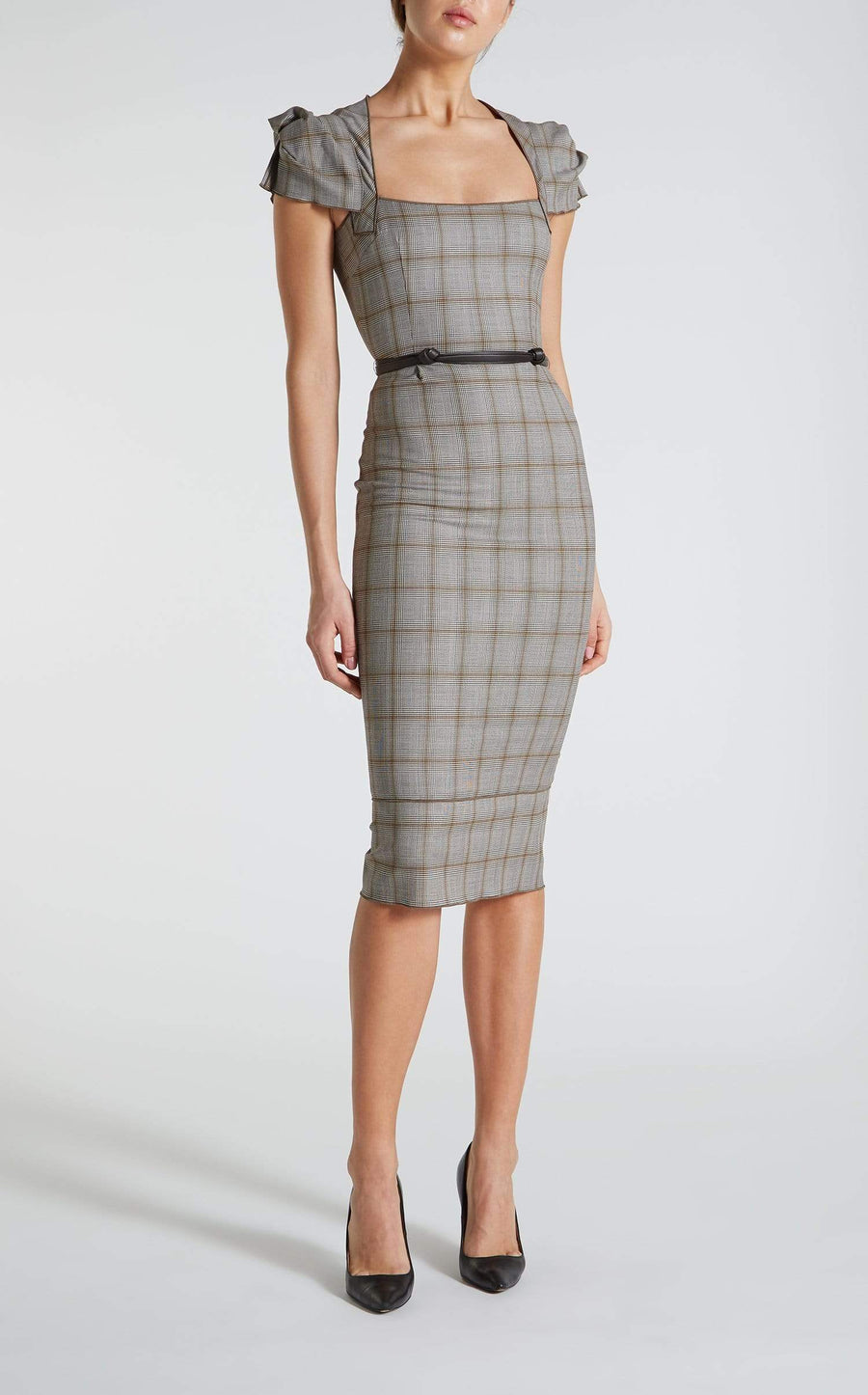 Galaxy Dress In Brown/Beige from Roland Mouret