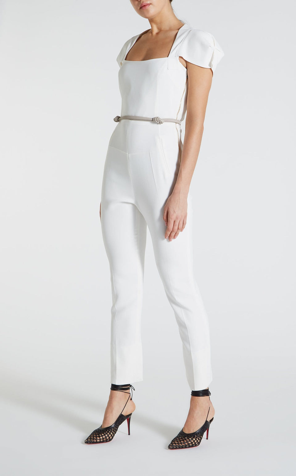 Galaxy Jumpsuit In White from Roland Mouret