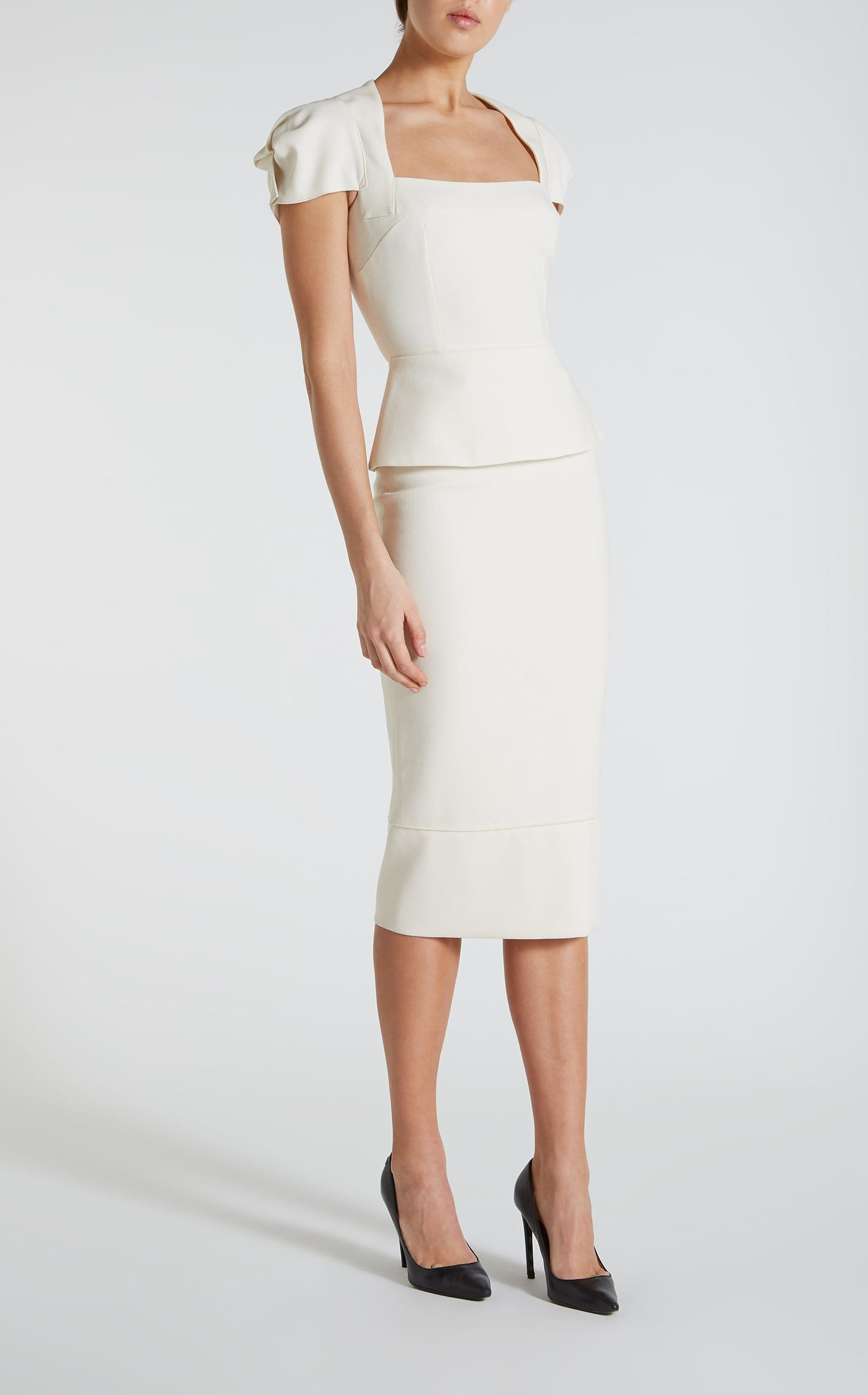 Galaxy Skirt In White from Roland Mouret