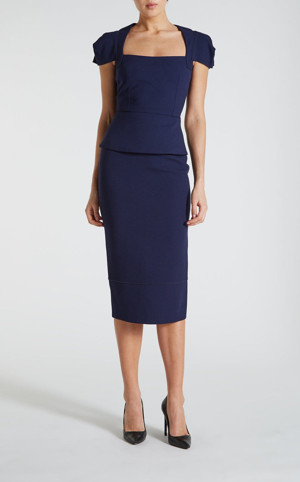 Galaxy Skirt In Navy from Roland Mouret