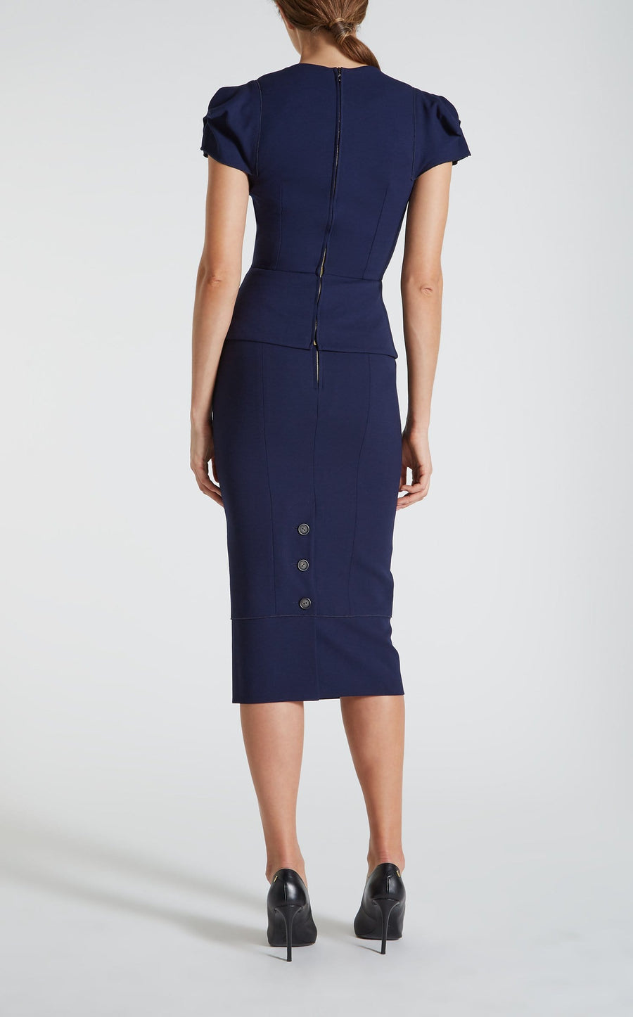Galaxy Top In Navy from Roland Mouret