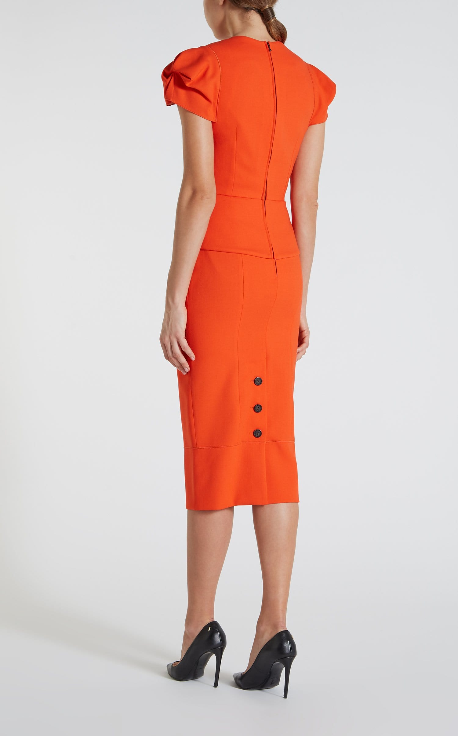 Galaxy Top In Bright Orange from Roland Mouret