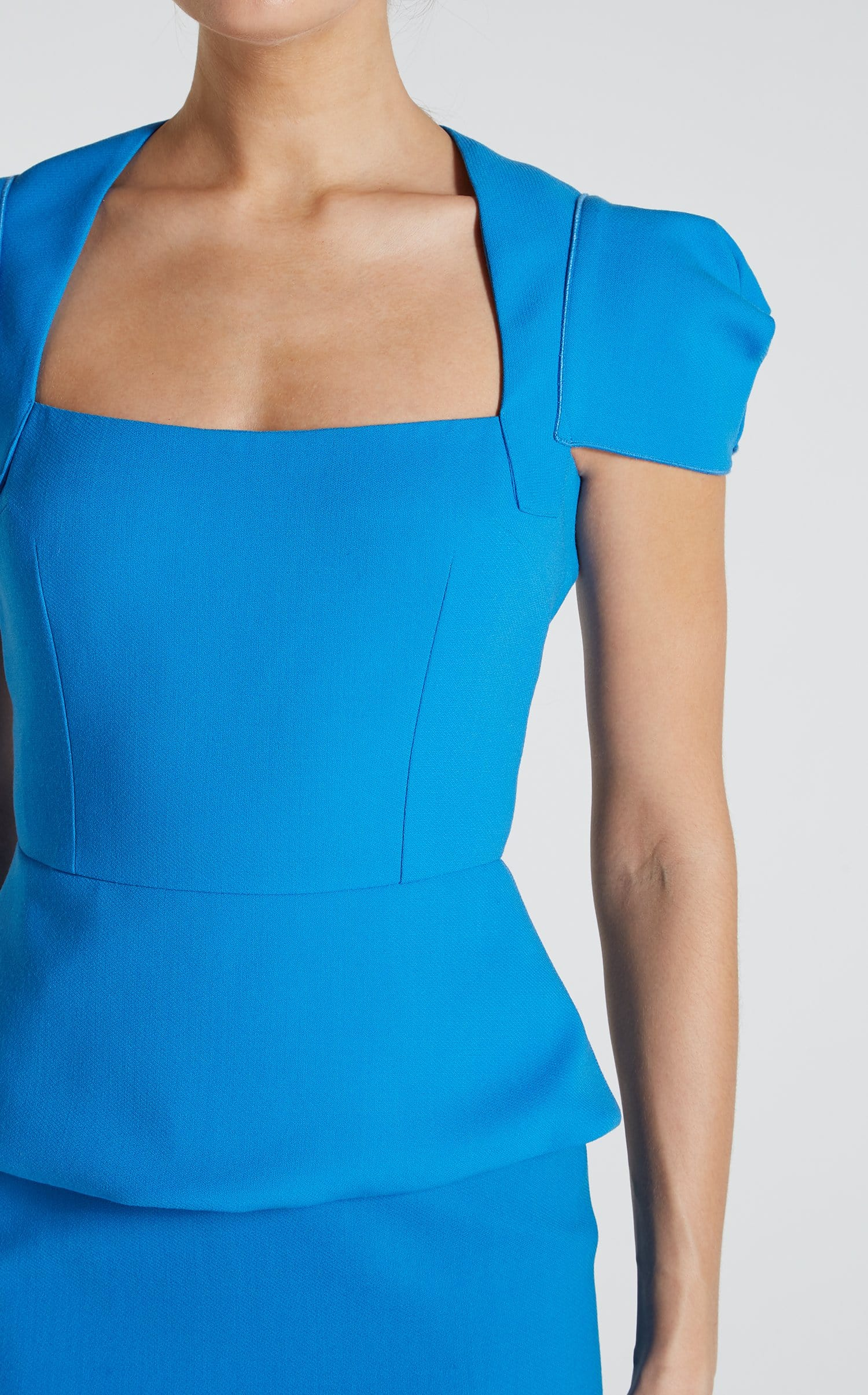 Galaxy Top In Bright Blue from Roland Mouret