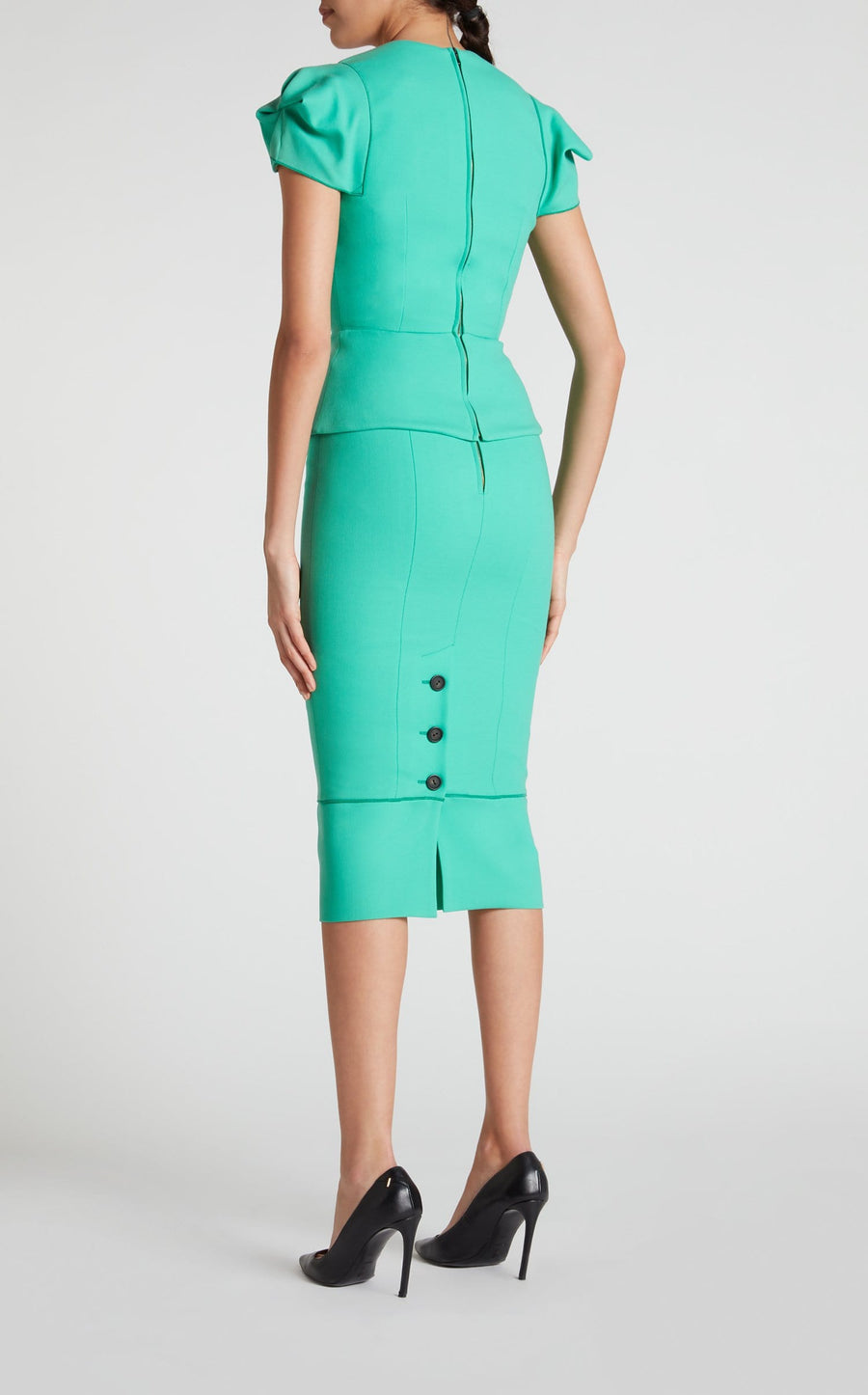 Galaxy Skirt In Peppermint Green from Roland Mouret