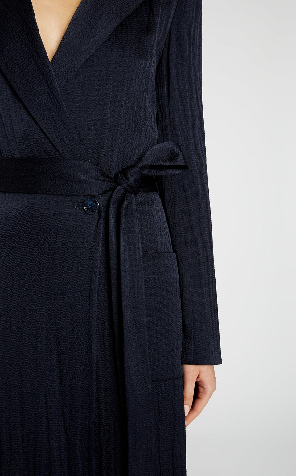 Heathcoat Coat In Navy from Roland Mouret