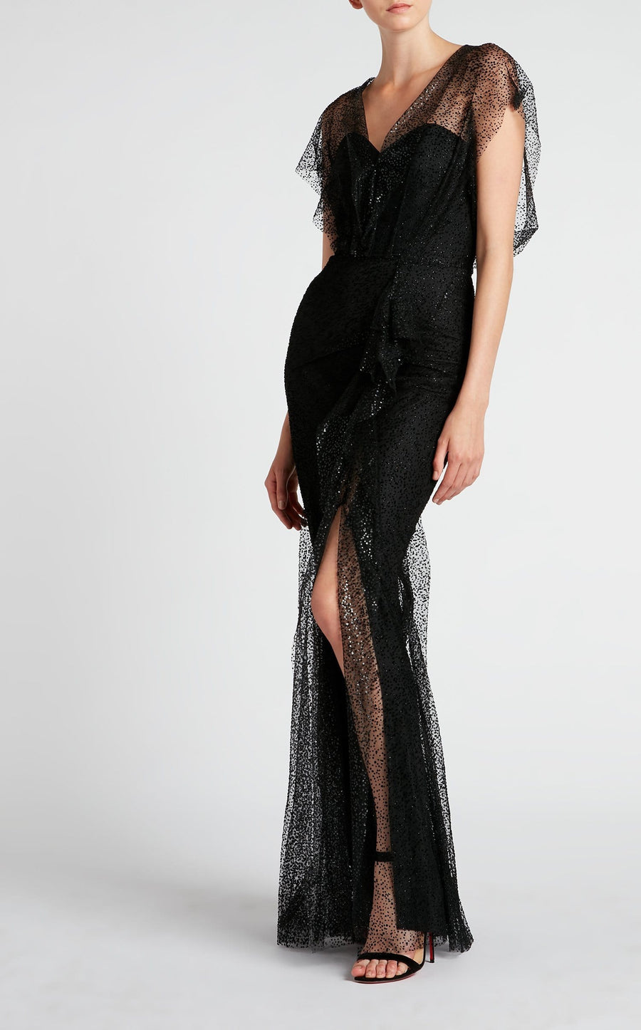 Hiscot Gown In Black from Roland Mouret