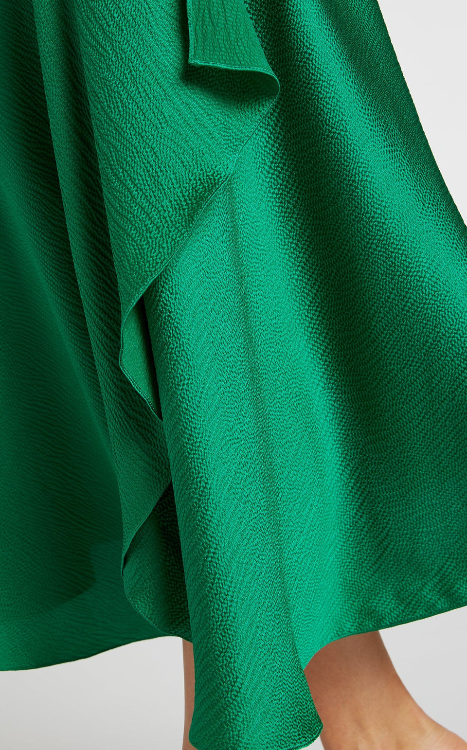 Hurst Skirt In Emerald/Black from Roland Mouret