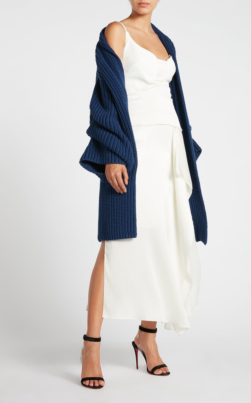 Ives Coat In Navy from Roland Mouret