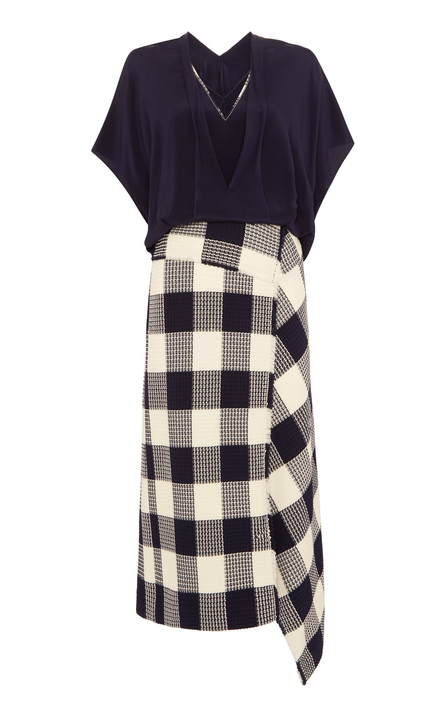 Kenna Dress In Navy/White from Roland Mouret