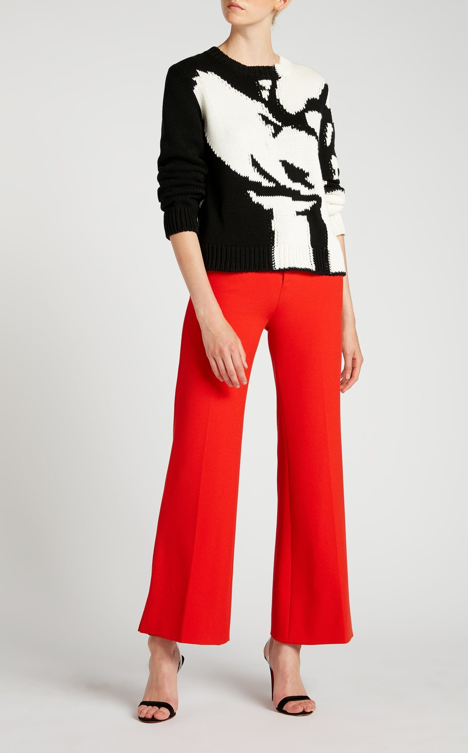 Kinny Jumper In White/Black from Roland Mouret