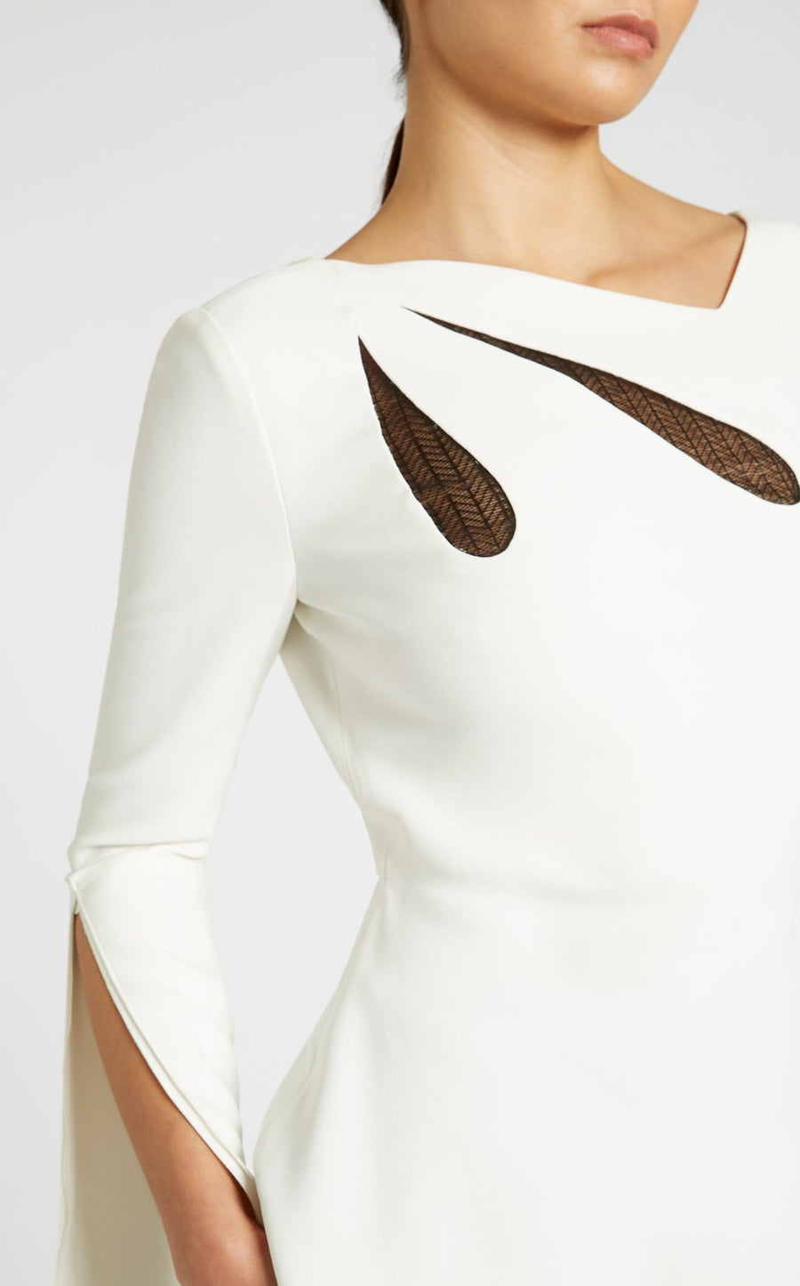 Leighton Top In White/Black from Roland Mouret