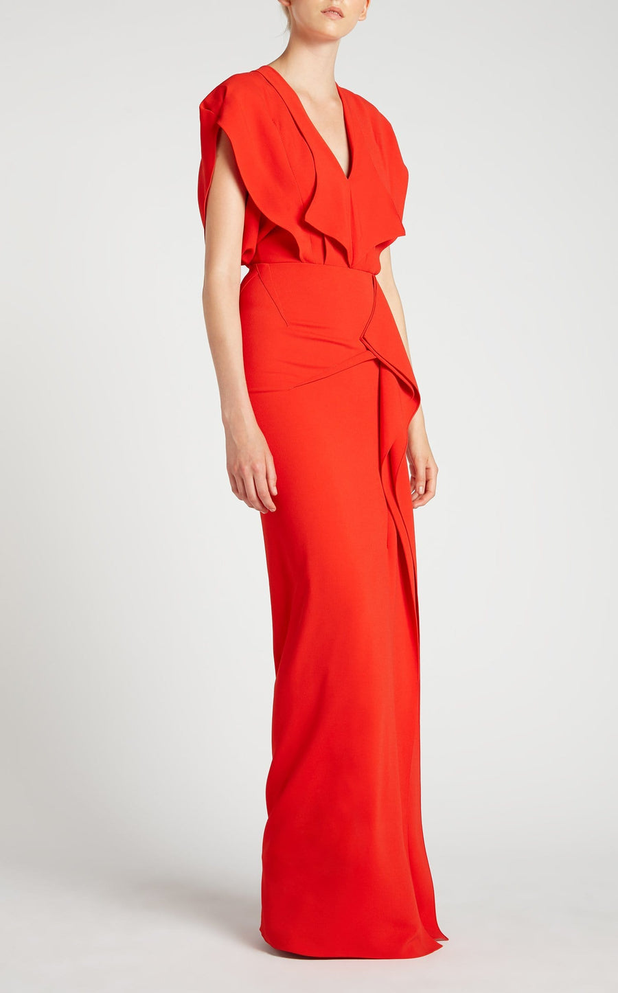 Lorre Gown In Poppy Red from Roland Mouret