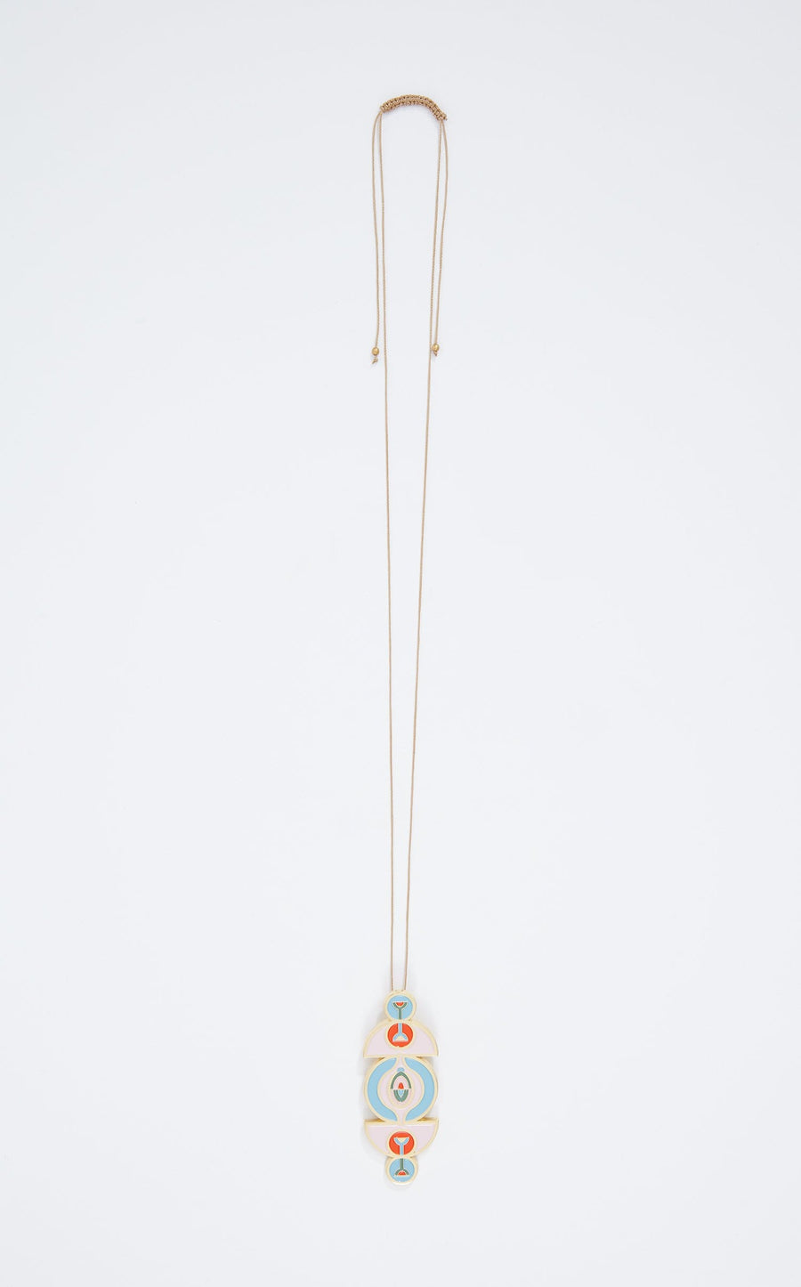 Milsey Pendant In Gold Multi from Roland Mouret