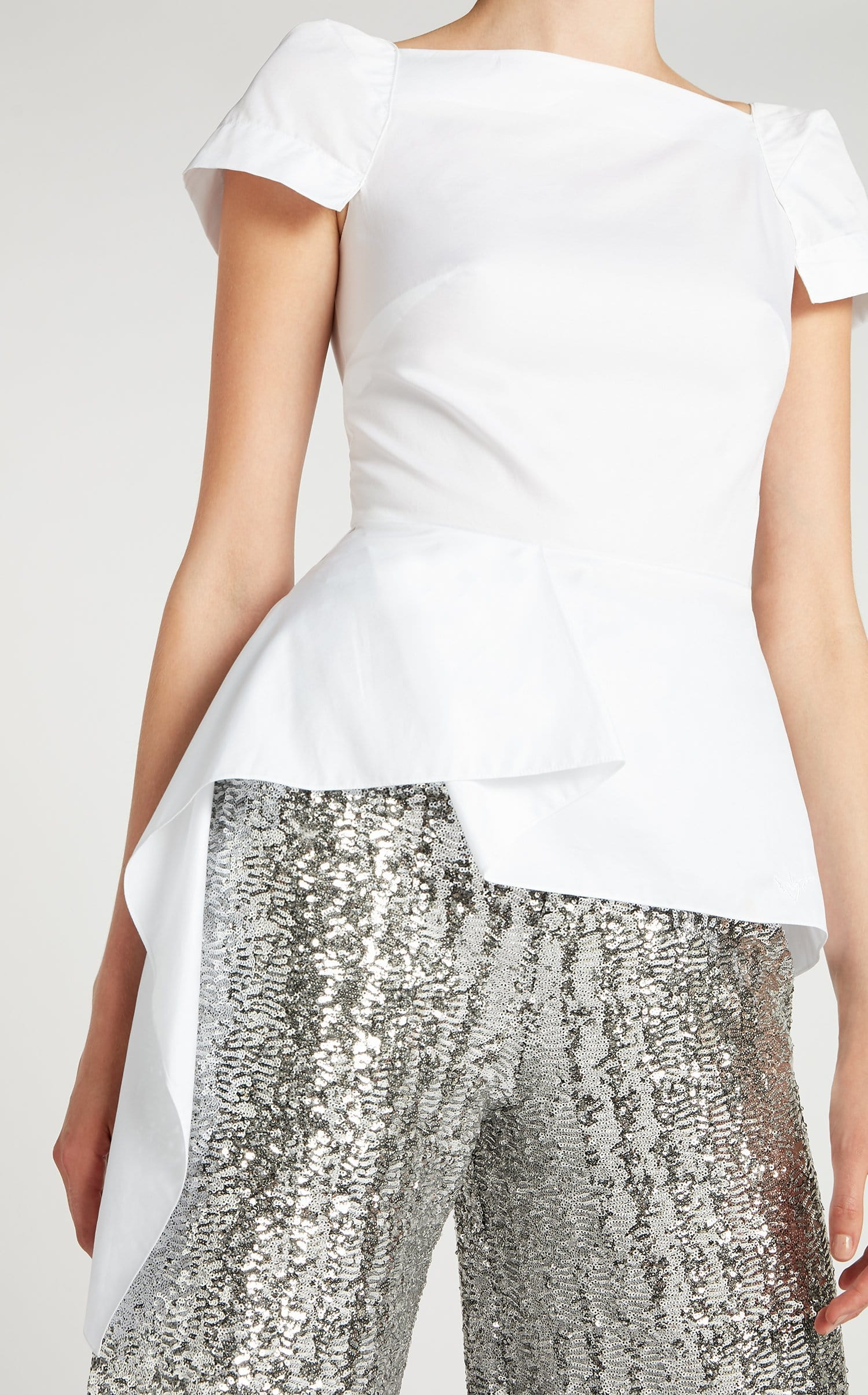 Newhall Top In White from Roland Mouret