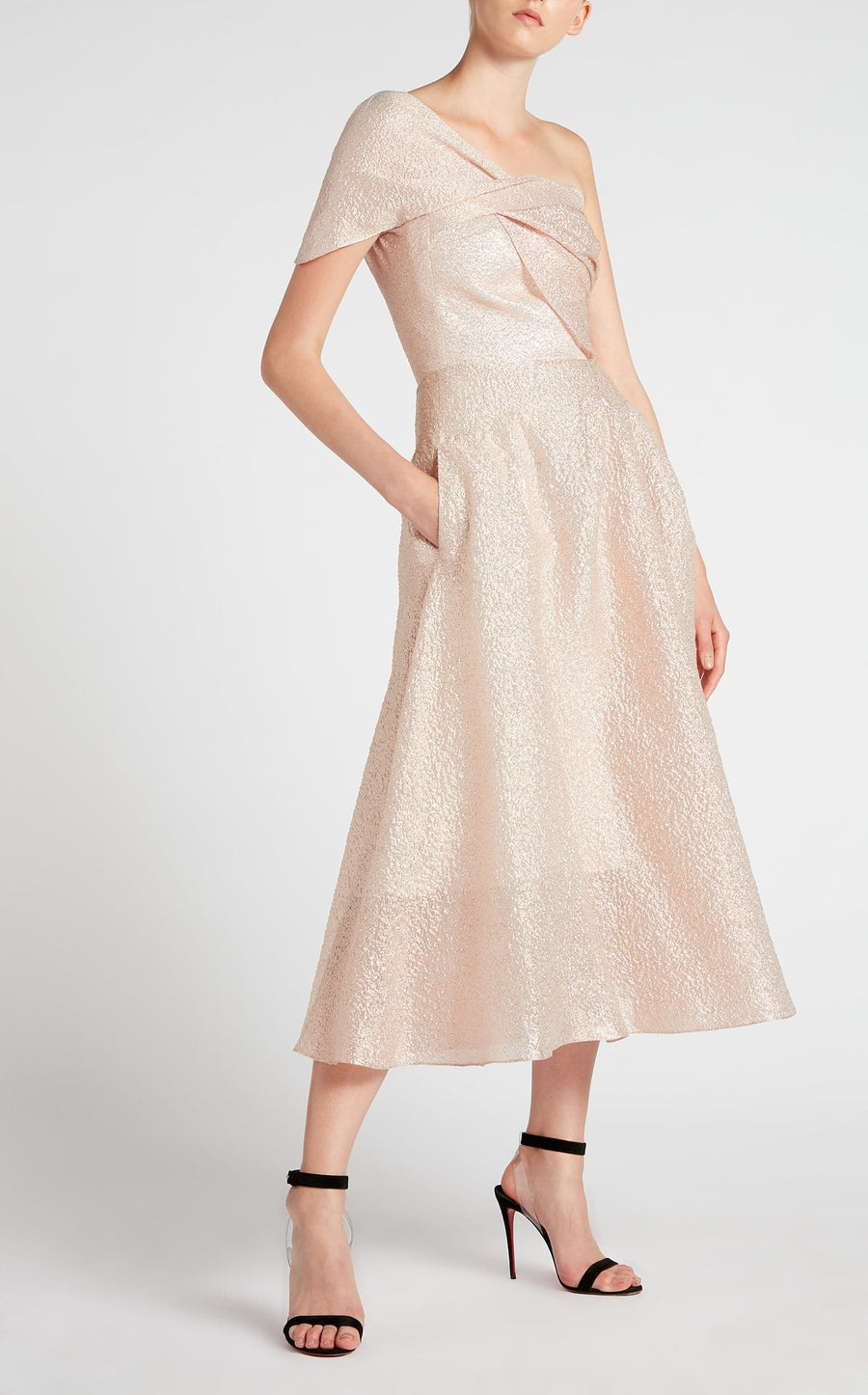 Norton Dress In Dark Blush from Roland Mouret