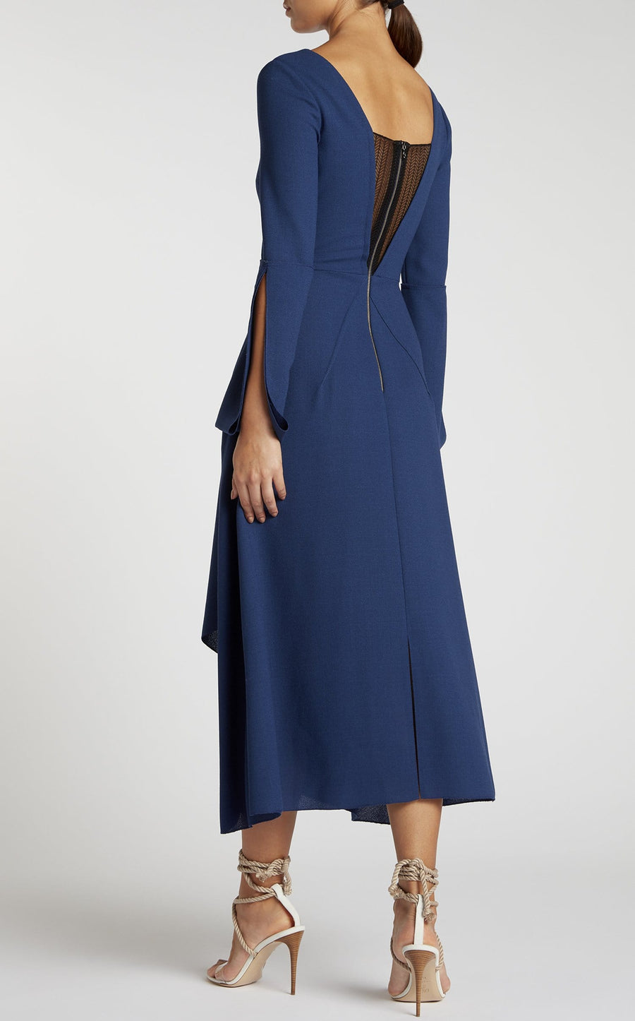 Oreti Dress In Capri Blue/Black from Roland Mouret