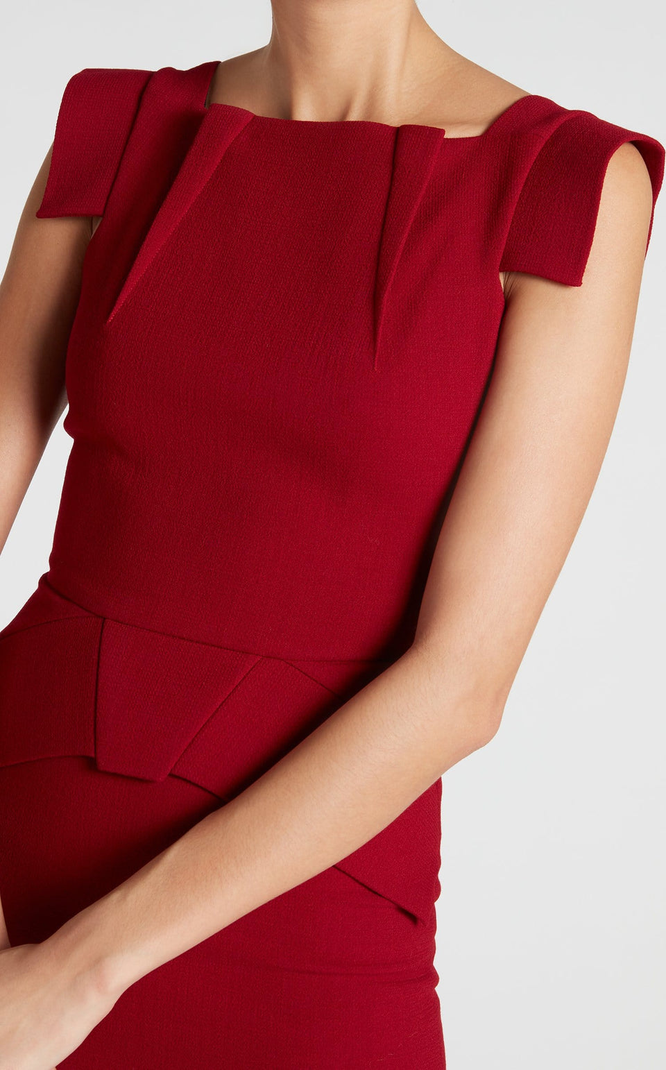 Pigalle Dress In Lava Red from Roland Mouret