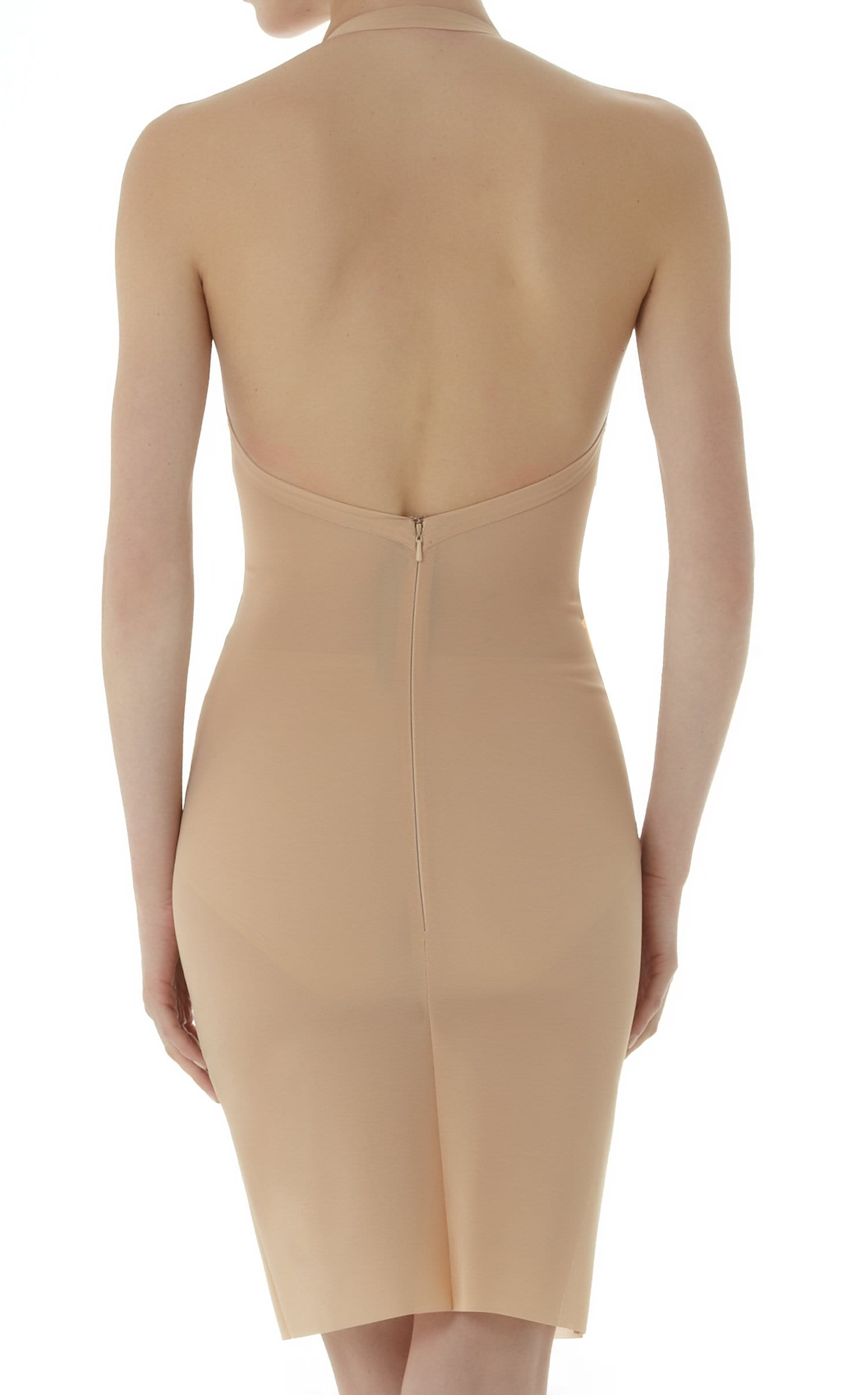 Powermesh Halter Dress In Flesh from Roland Mouret