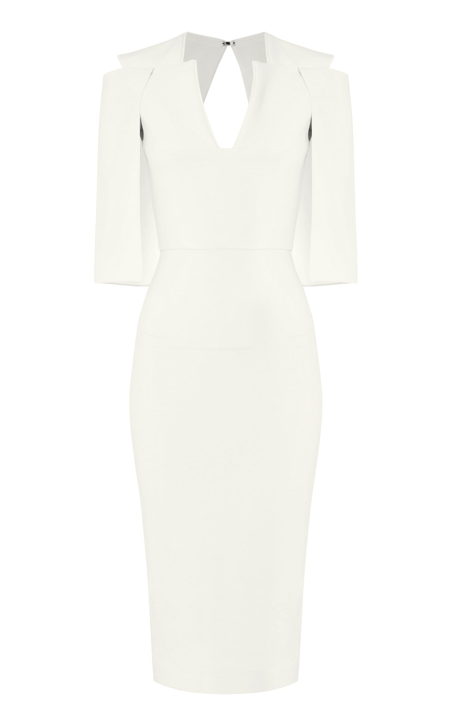 Queensbury Dress In White from Roland Mouret