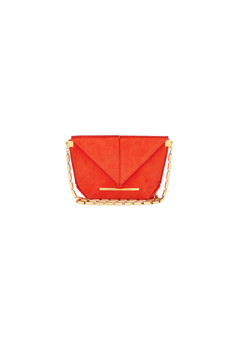 Mini Classico Bag In Poppy Red from Roland Mouret