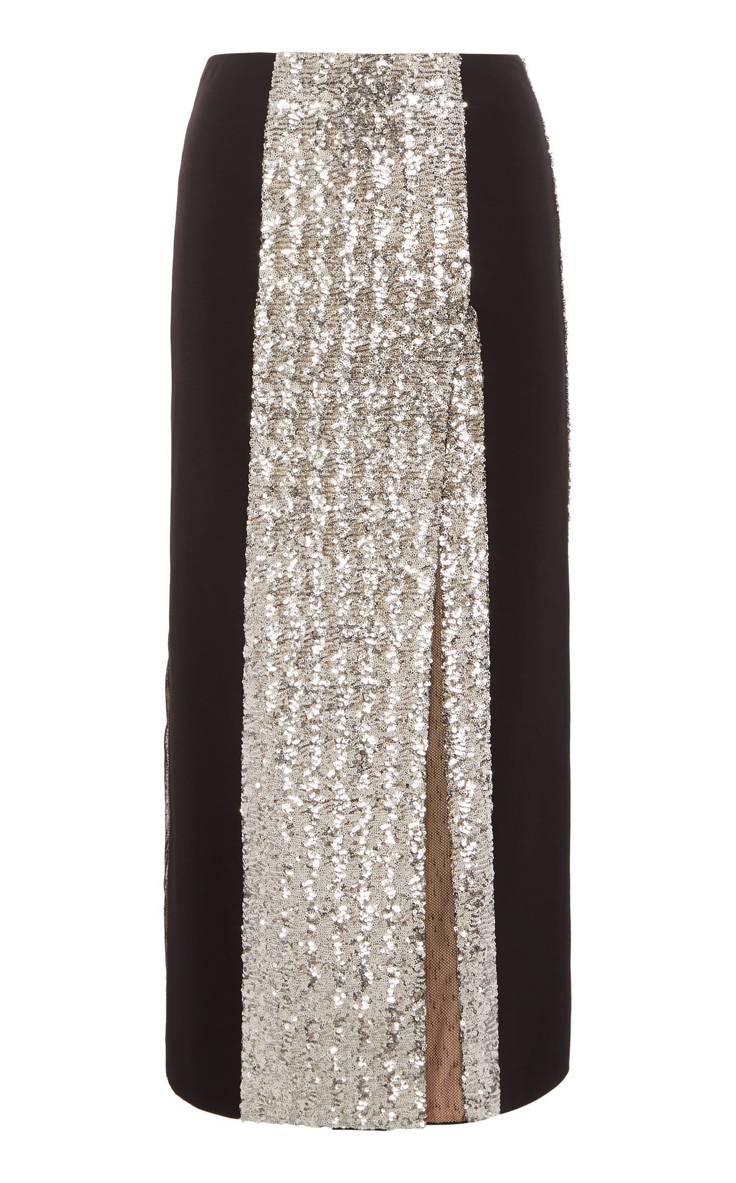 Romero Skirt In Black/Silver from Roland Mouret