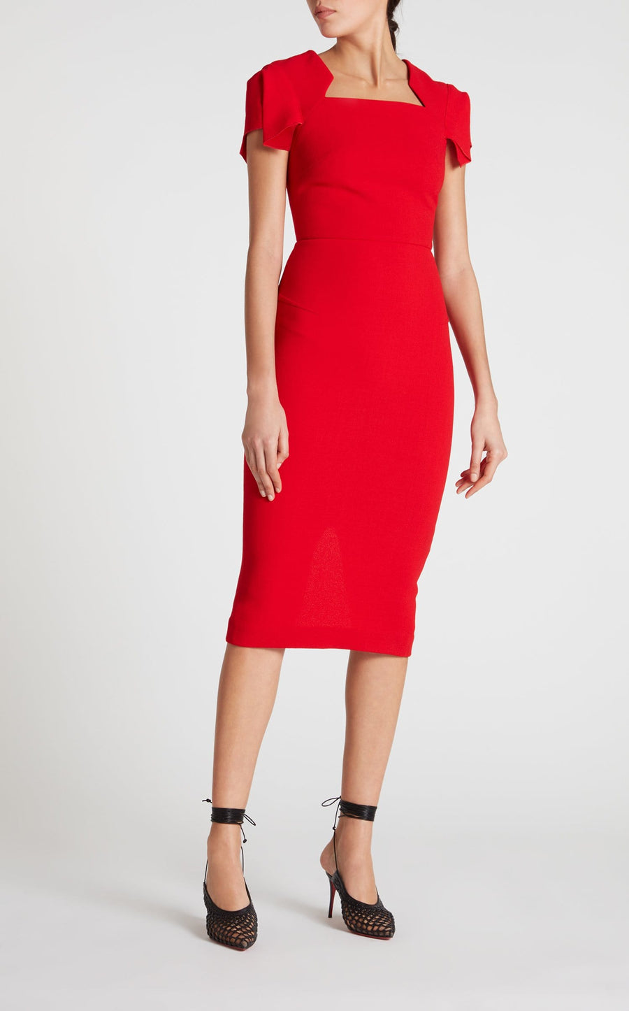 Royston Dress In Poppy Red from Roland Mouret