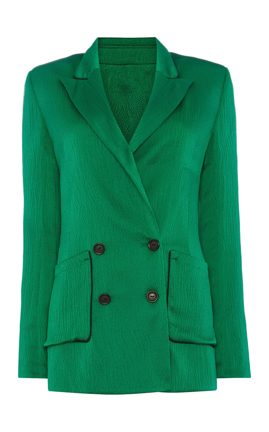 Talbot Jacket In Emerald/Black from Roland Mouret