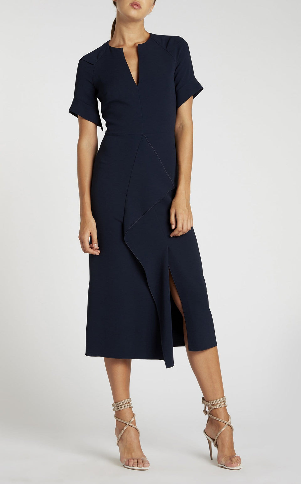 Tresta Dress In Navy from Roland Mouret