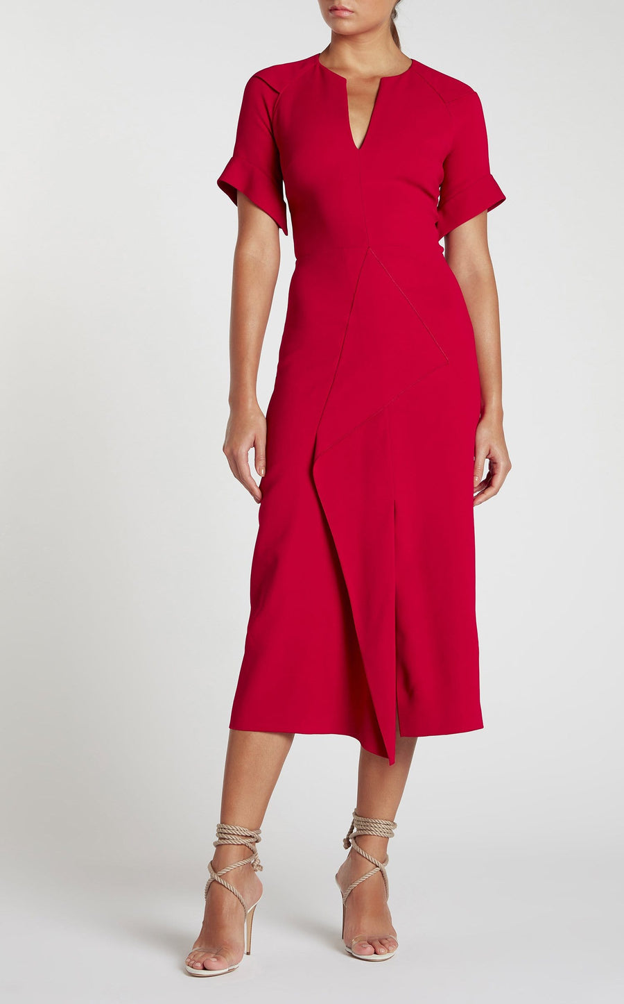 Tresta Dress In Ruby from Roland Mouret