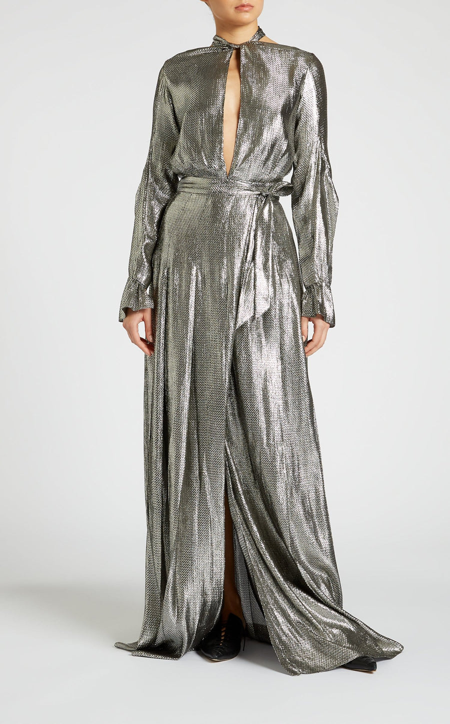 Velero Gown In Silver from Roland Mouret