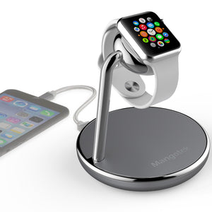 Apple Watch Magnetic Charging with USB Port stand for Apple Watch iPhone, MFi Certified