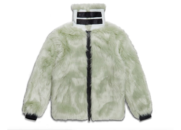 Reversible Faux Fur Coat - Jade Horizon