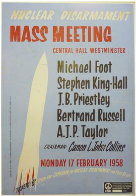 Poster - 1958 Mass Meeting
