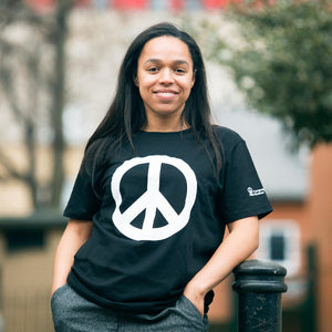 CND logo (peace symbol) T-shirt in black