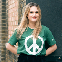 CND logo (peace symbol) T-shirt in green