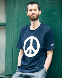 CND logo (peace symbol) T-shirt in navy