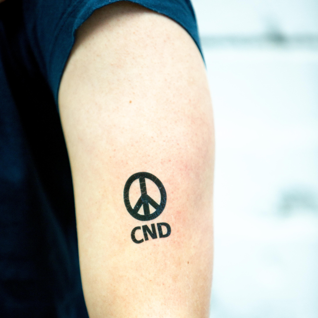 Temporary Tattoo - CND Symbol - Pack of 10