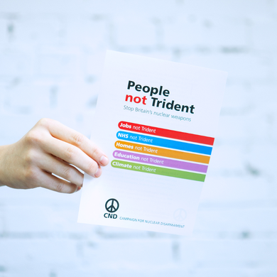 Leaflet - People not Trident
